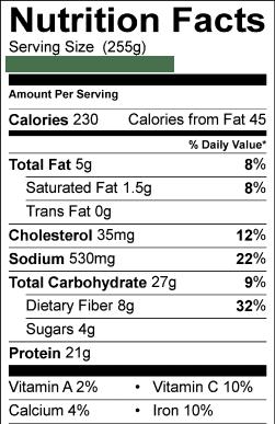 Calories In Costco Food Court Chili