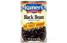 Black Beans, No Salt Added