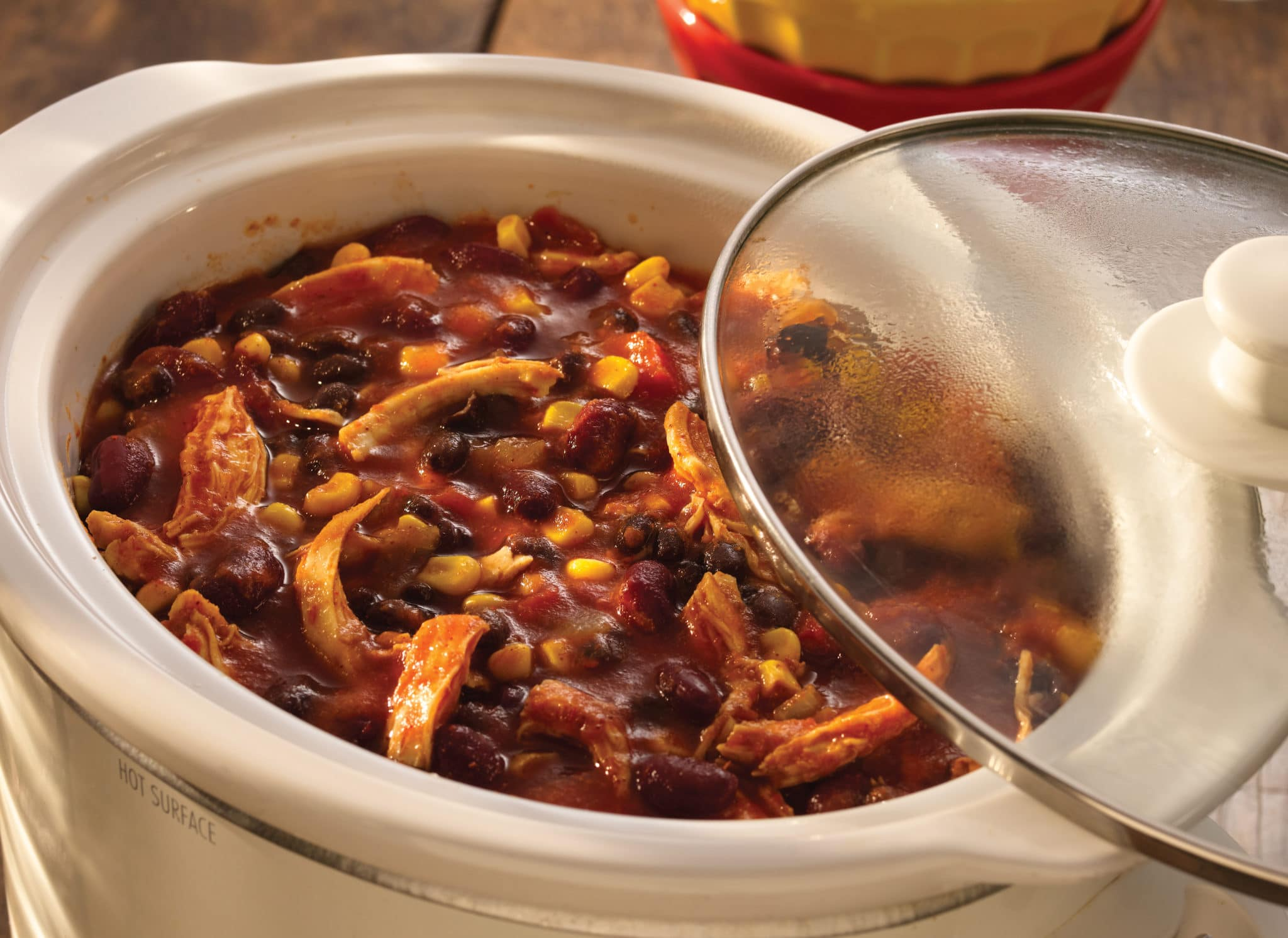 Slow Cooker Chicken Taco Chili (click for full resolution)