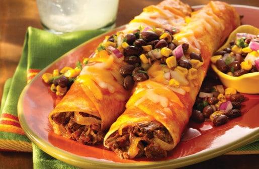Enchiladas with Black Bean and Corn Salsa