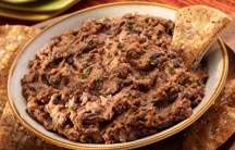 Chipotle Black Bean Dip with Garlic Pita Chips