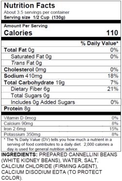 White Kidney Cannellini Beans (15oz