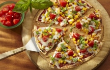 Corn and Cherry Tomato Pizza