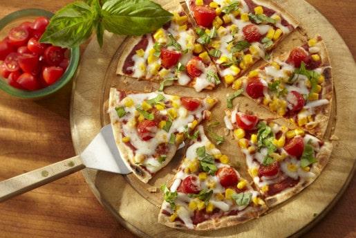 Corn and Cherry Tomato Pizza