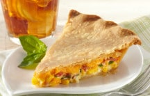 Corn, Tomato and Cheddar Pie
